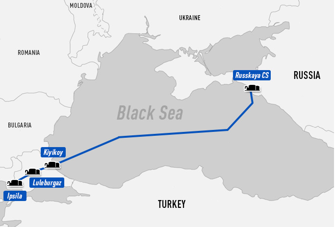 Russia And Turkey Agree To Route For New Turkish Stream Pipeline Through Black Sea