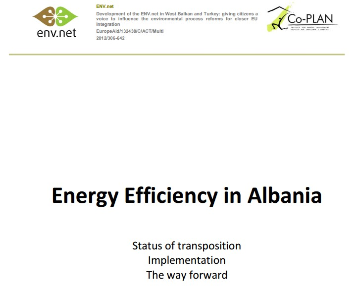Energy Efficiency in Albania 2013