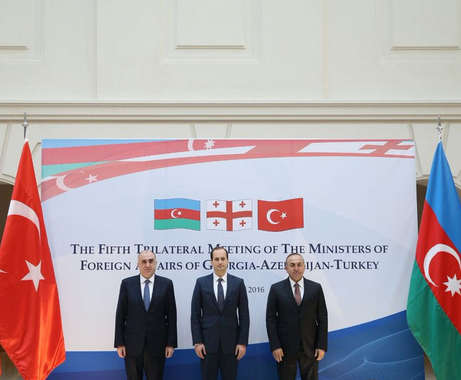 Tbilisi brings together Azerbaijani, Turkish and Georgian FMs