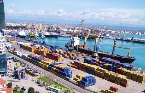The Durres Port in Albania. China is in talks with the government to build an industrial park there. It already owns the country's largest airport, is rebuilding an ancient Roman Empire road, and acquired rights to an oil field from Canadians.
