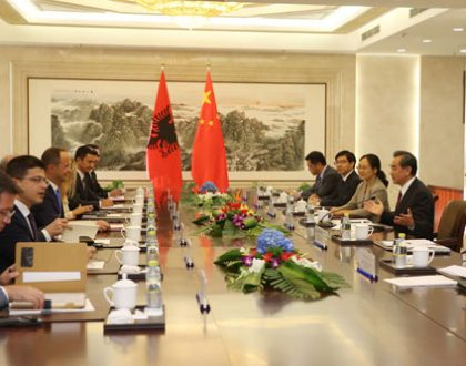 Wang Yi Holds Talks with Foreign Minister Ditmir Bushati of Albania