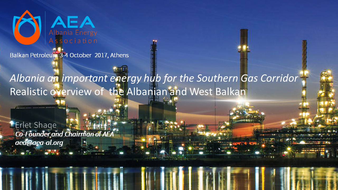 Albania an important energy hub for the Southern Gas Corridor