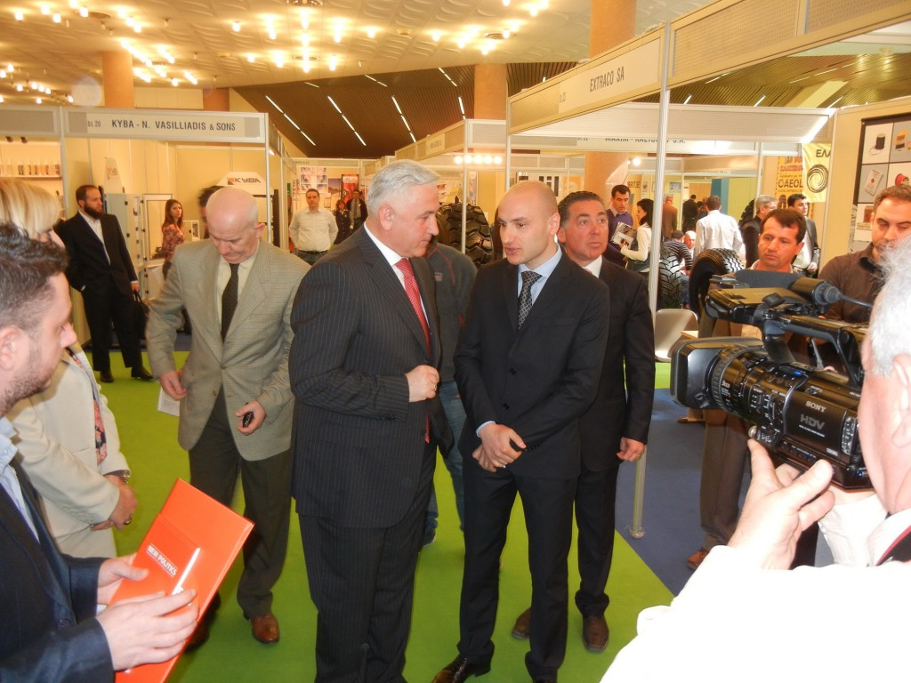 Erlet Shaqe and Minister of Economy Trade and Energy Nasip Naco